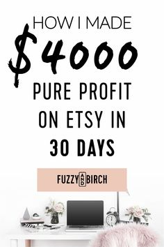 $4000 of Profit on Etsy in 30 days - Want to see how I made $4000 of Etsy profit in 30 days? See how you can turn your crafts into a serious source of $$ by checking out this income report. #etsy #etsyshop #etsyseller #hustle #grind #entrepreneur #entrepreneurship #success Money Making Crafts, Make Money Blogging, Make Money From Home, How To Make Money, Craft Business, Business Tips, Business Quotes, Business Opportunities, Business Planning