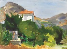 'Landscape' by Panayiotis Tetsis Art History Major, Greece Painting, Painter Artist, Post Impressionism, 10 Picture, Greek Art, Impressionist Paintings, Art Database, Art For Art Sake