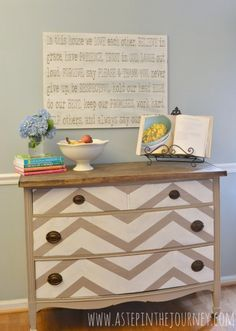 Repurposed dresser to butcher block kitchen island buffet | Remodelaholic