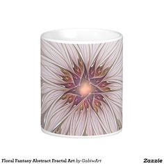 Floral Fantasy Abstract Fractal Art Coffee Mug