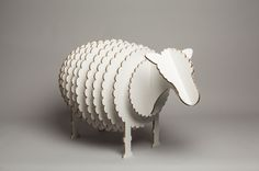 """Stanley"" the cardboard sheep by Mat Bogust"