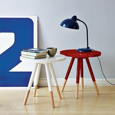 dipped side tables