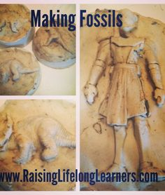 Making Fossils with a few inexpensive materials via www.RaisingLifelongLearners.com.