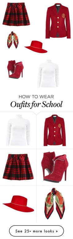 """""""Ready for school """" by moza-alali on Polyvore featuring Yves Saint Laurent, Michael Antonio, Gucci, River Island and Michael Kors"""