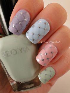 Pastel Nails #Nailart #Zoya #Colorful #Pretty #mani - Bellashoot.com