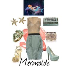 Mermaids, created by kristinlynette on Polyvore