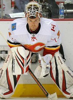 Miikka Sakari Kiprusoff is a Finnish professional ice hockey goaltender currently playing for the Calgary Flames of the National Hockey League (NHL).
