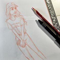 Unicorns live longer by juditmallolart Girl Drawing Sketches, Pencil Art Drawings, Cool Art Drawings, Character Drawing, Character Design, Tumblr Drawings, Art Drawings Beautiful, People Art, Drawing People