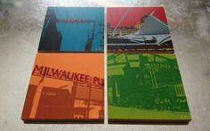 Milwaukee Coaster Set by Polyrama on Etsy, $24.00