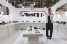 """Design Trendsetter 2015"" contest: Finsk display booth, S/S 2016 collection #finsk #shoes"