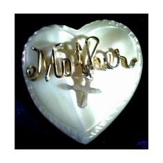 Hand Carved Heart Brooch Mother Of Pearl Heart Pin w/Mother In Gold... ($17) ❤ liked on Polyvore featuring jewelry, brooches, heart brooch, vintage gold brooch, cross jewelry, mother of pearl brooch and gold jewellery