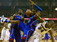"""Kansas versus Missouri basketball!  The rivalry is over as Missouri has abandoned the Big 12 for the SEC.  The last regular season game (perhaps ever) between the two teams ended with Kansas beating Missouri 87-86 in overtime.  This game was an """"Instant Classic"""" and worthy of both programs.  It started March 11, 1907 and ends for now on February 25, 2012.  KU leads the series 172-95.  One has to assume KU and MU will meet again someday.  And then........"""