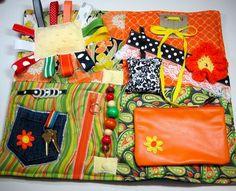 Orange Lover's Fidget, Sensory, Activity Quilt Blanket by TotallySewn on Etsy