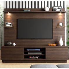 Foto 1 - Estante para TV Linea Brasil Chicago Chocolate Wood
