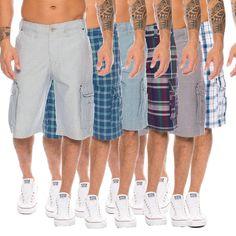Rock Creek Herren Bermuda Sommer Shorts Hose Capri Karo Shorts Cargo H-074 42bb716607