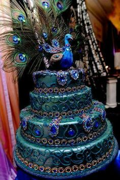 Absolutely Gorgeous! Peacock Cake.