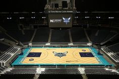 The Charlotte Hornets Unveiled their new court on June 26, 2014