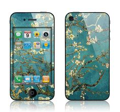 SkunkWraps Decal Skin for Apple iPhone 4 4S  - Van Gogh Blossoming Almond Tree Cover. I want to try this on my phone!!