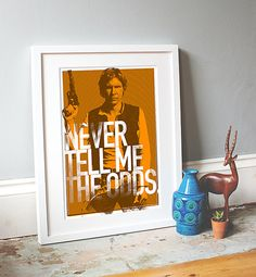 Star Wars Inspired Print Heroes Series: HAN by thedesignersnursery