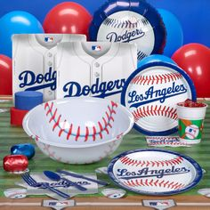 dodgers handbags | Los Angeles Dodgers Baseball Deluxe Party Kit | 77716 | 2014