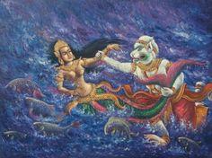 Khmer art - painting by Vi Nin Vannak, Cambodia