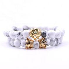 king lion bracelet charm crown couple braclet 5 kinds of natural stone bead braslet men hand jewelry accessories Lion Bracelet, Bracelet Set, Couple Bracelets, Bracelets For Men, Handmade Bracelets, Beaded Bracelets, Jewelry Accessories, Women Jewelry, Tiger Eye Beads