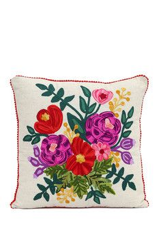 Karma Living Precious Threads Bouque Cushion