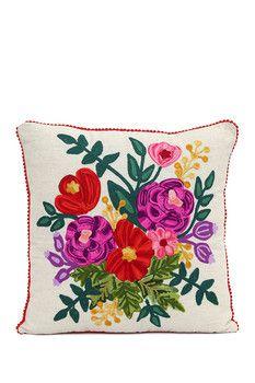 Karma Living Precious Threads Bouque Cushion