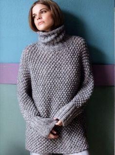 Длинный свитер кимоно узором шиповник