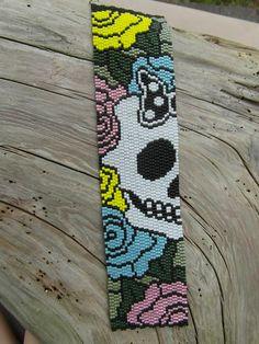 Peyote Bracelet / Day of the Dead / Pastels / Skull / Goth