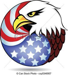 vector illustration of bald eagle american flag logo bald eagle rh pinterest com american eagle clip art free american eagle pictures clip art