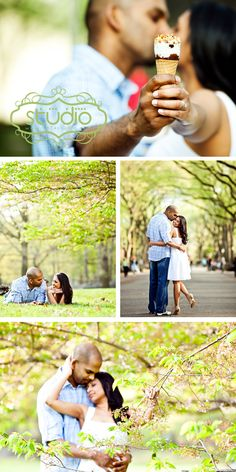 A nyc pre wedding photography. The engagement pictures are taken near the Central Park Mall, which runs through the middle of the Park from 66th to 72nd street (just some awesome row of tall trees). Color is pastel green, light pink ,white, and baby blue. Theme is spring and romantic. Photos by 1314studio.net