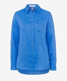 BRAX - Victoria - Blouse de lin Shirt Dress, Blouse, Victoria, Lady, Lingerie, Collection, Mens Tops, Shirts, Dresses