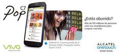 """Con un smartphone ALCATEL ONETOUCH POP C7 tienes en la mano la entrada a miles de tiendas y miles de aplicaciones para que siempre estés entretenido. Disfruta de su sistema Android 4.2 en su amplia y cómoda pantalla de 5"""" a tan solo RD$ 990 con 1,000 minutos incluidos o a RD$ 7,990 en prepago. Válido solo para La República Dominicana."""