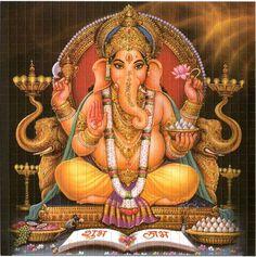 Ganesh 2013 - Blotter art This sheet measures 7.5 inches square Sheet ...
