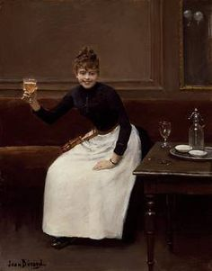 1890......LE TOAST..........PARTAGE DE LE PEINTRE JEAN BERAUD...........SUR FACEBOOK..............