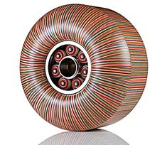 Japanese artist Haroshi creates three-dimensional sculptures out of used wooden skateboard decks.