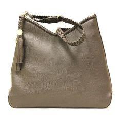 Gucci 336659 Marrakech Brown Leather Braided Tassel Shoulder Bag - LuxuryProductsOnline