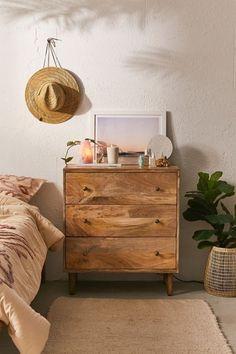 Amelia 3-Drawer Dresser Decor Room, Home Decor Bedroom, Diy Home Decor, Bedroom Ideas, Warm Bedroom, Bedroom Night, Bedroom Lamps, Bedroom Inspo, Boho Living Room