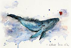 """""""Der Walfisch""""  ist verliebt! :) Und nebenbei ein ein fabelhaftes und beeindruckendes Tier!  Mich hat der Wal einfach so fasziniert, dass ich euch ein wenig Faszination abgeben möchte..."""