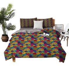 DRAGON VINES 4pcs Bedding Set Satin Sheets KingSizeBed Hand Drawn Circles Grunge Style Surreal Designs Checkered Swirled Colorful Pattern Multicolor Apartment Dormitory W68 xL90 King Size Bed Sheets, Satin Sheets, Dormitory, Grunge Style, Grunge Fashion, Color Patterns, Circles, Hand Drawn, Vines