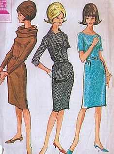 McCall's 6880 Vintage 1960s Misses' Dress with Ring Scarf and Stole Wiggle Skirt, Size 16 (Bust 36) by McCalls Pattern Co http://www.amazon.com/dp/B008GT1TD4/ref=cm_sw_r_pi_dp_6rLNtb0SGVYSX8TC