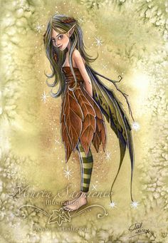 """⌣(ˆ◡ˆ)⌣ , ♡ ❀ ☺☺. █▄ϑ❤Ҽ ☺☺.And as the season come and go, here's something you might like to know ... there are fairies everywhere under bushes, in the air, playing games just like you play, singing through their busy day. So listen, touch, and look around -- in the air and on the ground. And if you watch all nature's things, you might just see a fairy's wing~.""""MartaSarmiento on Etsy"""