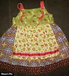 Matilda Jane Art Fair Owl Knot Dress sz 6