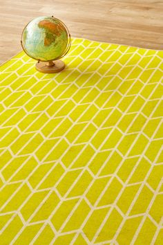 Geo Chevron Sunshine: 1.5 X 2.3 metres. Printed Polyester. Available in other sizes upon request. Plea...