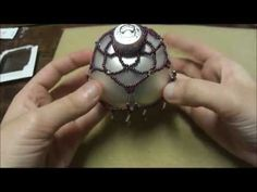 ▶ Basic Beaded Christmas Ornament - YouTube http://www.youtube.com/watch?v=iAvLn_M8wdI