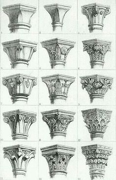 Gothic capitals by John Ruskin: - Gothic capitals by John Ruskin: . - Gothic capitals by John Ruskin: – Gothic capitals by John Ruskin: – - Architecture Antique, Art Et Architecture, Classic Architecture, Historical Architecture, Architecture Details, Architecture Sketchbook, Islamic Architecture, Sustainable Architecture, John Ruskin