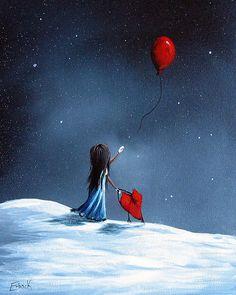 As Her Heart Breaks By Shawna Erback Print by Shawna Erback