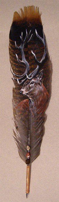 Аватар вконтакте На пере изображен олень (© zmeiy), добавлено: 29.10.2014 21:27