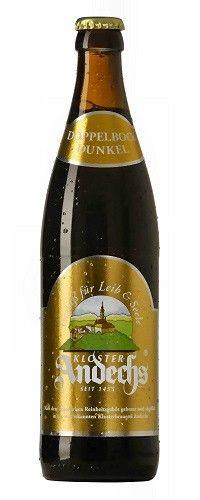 Cerveja Andechser Doppelbock Dunkel, estilo Doppelbock, produzida por Klosterbrauerei Andechs, Alemanha. 7.1% ABV de álcool.